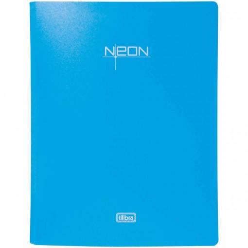 Fichário 4 Argolas em Polipropileno Lombada 40mm Neon Azul