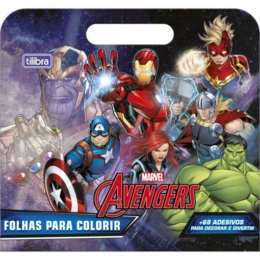 Folhas para Colorir Maleta Avengers 8 Folhas