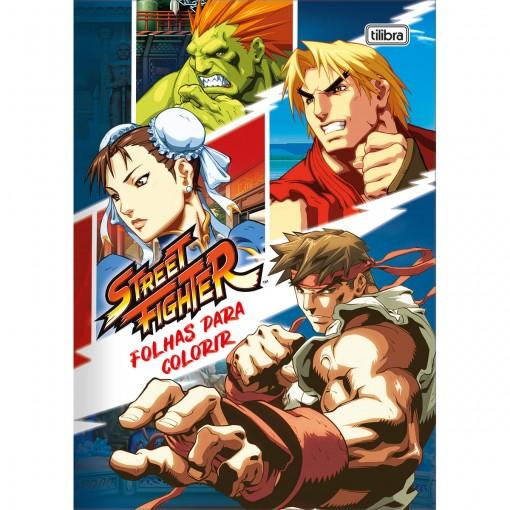 Folhas para Colorir Street Fighter 8 Folhas