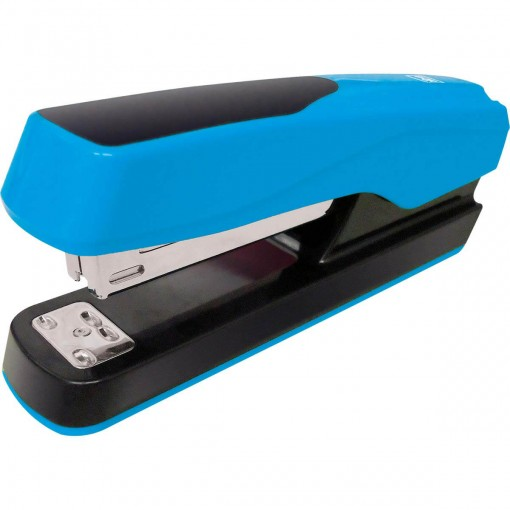 Grampeador 20 Folhas de Mesa Neon G122 Azul