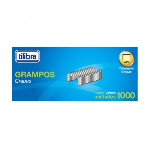 Grampo 23/6 2-25 Folhas Galvanizado 1000 Unidades