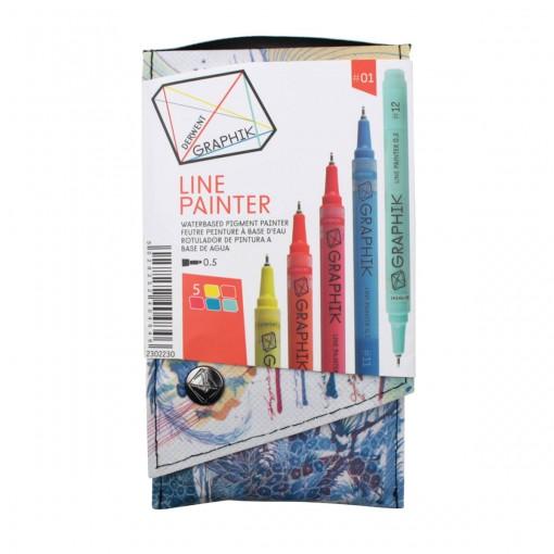 Kit Estojo com 5 Canetas Graphik Line Painter 0,5mm - Paleta #01