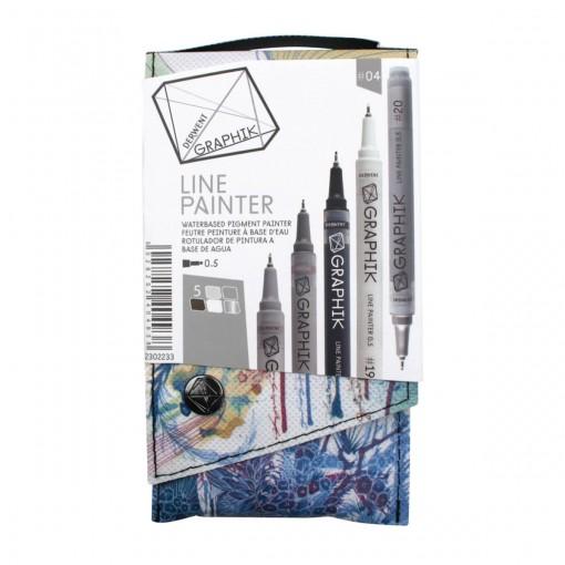Kit Estojo com 5 Canetas Graphik Line Painter 0,5mm - Paleta #04