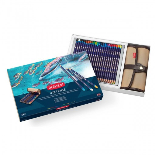 Kit Estojo e Lápis Aquarelável Inktense 24 cores
