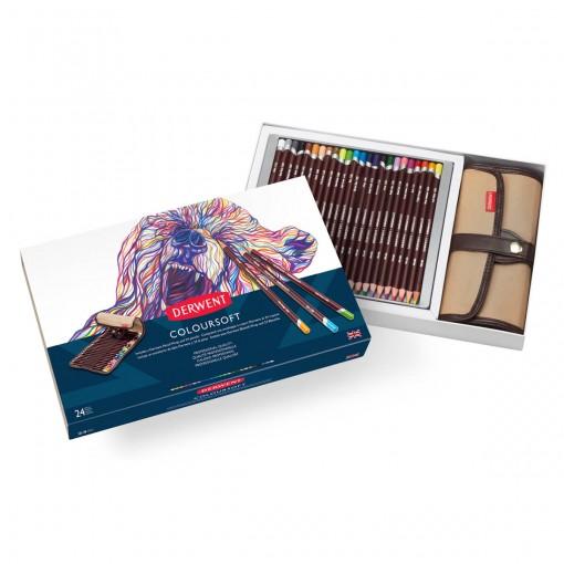 Kit Estojo e Lápis Permanente Coloursoft 24 cores