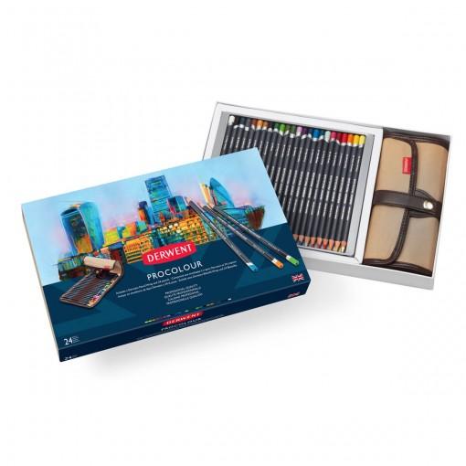 Kit Estojo e Lápis Permanente Procolour 24 cores