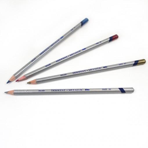 Lápis de Cor Aquarelável Metallic Unitário Red