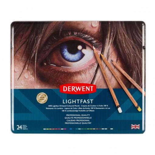 Lápis de Cor Permanente Lightfast 24 Cores Estojo Lata