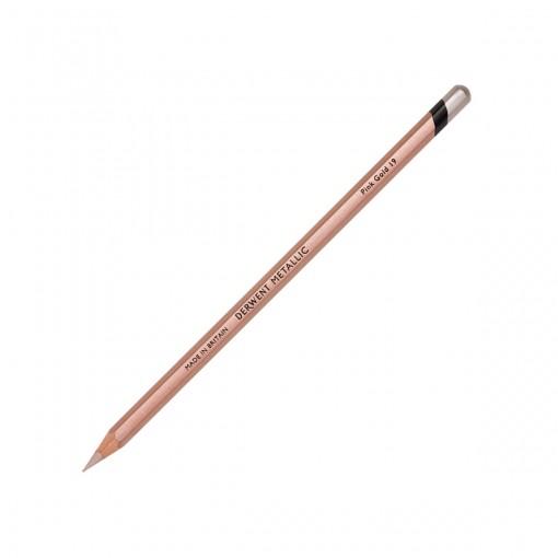 Lápis de Cor Permanente Metallic Unitário Pink Gold