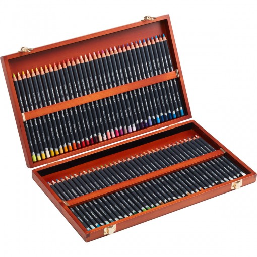 Lápis de Cor Permanente Procolour 72 Cores Estojo Madeira