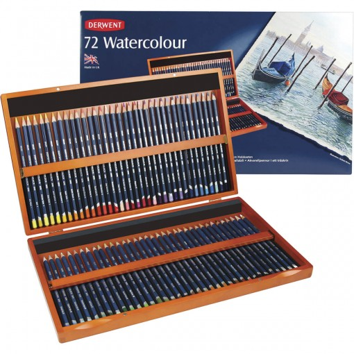 Lápis de Cor Watercolour 72 Cores Estojo Madeira Derwent