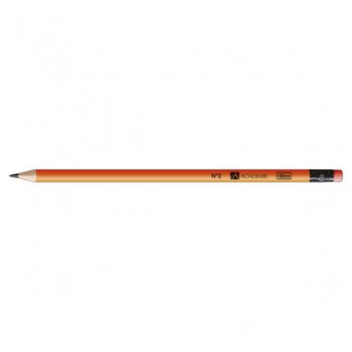 Lápis Preto Redondo com Borracha N.2 Académie Neon (Caixa com 72 unidades)