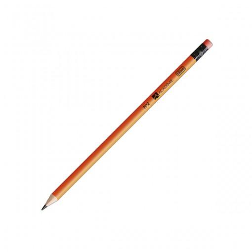 Lápis Preto Redondo com Borracha N.2 Académie Neon (Caixa com 72 unidades) - Sortido