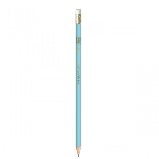 Lápis Preto Redondo com Borracha N.2 Happy (Caixa com 72 unidades) (Caixa com 72 unidades)