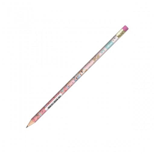 Lápis Preto Redondo com Borracha N.2 Jolie (Caixa com 72 unidades) - Sortido