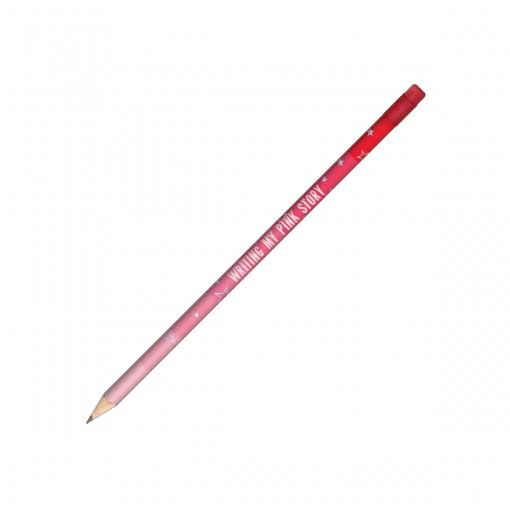 Lápis Preto Redondo com Borracha N.2 Love Pink (Caixa com 72 unidades) - Sortido