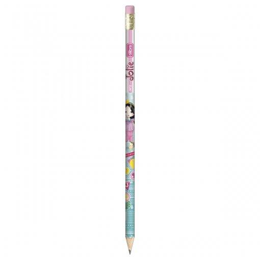 Lápis Preto Redondo com Borracha N.2 Jolie (Caixa com 72 unidades)