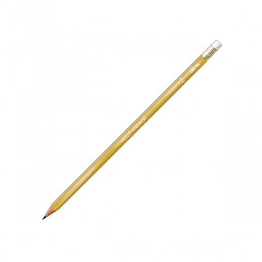 Lápis Preto Sextavado com Borracha N.2 West Village Dourado (Caixa com 72 unidades)