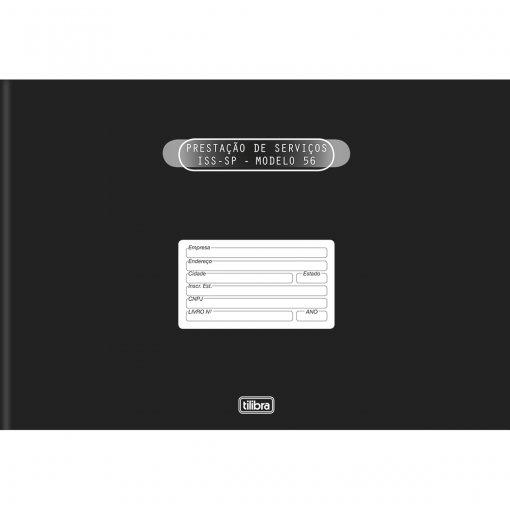Livro Registro de Serviços de Terceiros Modelo 56 Capa Dura - 50 Folhas