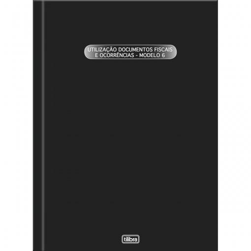 Livro Registro Documento Fiscal e Termos de Ocorrência Capa Dura Modelo 6 - 50 Folhas