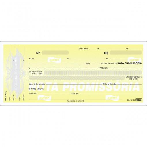 Nota Promissória Grande - 50 Folhas (Pacote com 20 unidades)