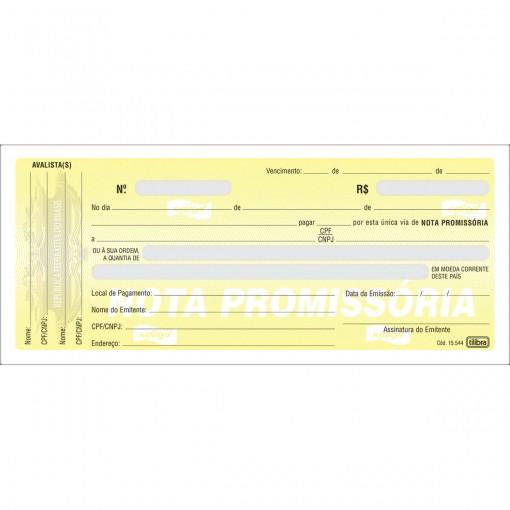 Nota Promissória Pequena - 50 Folhas (Pacote com 10 unidades)