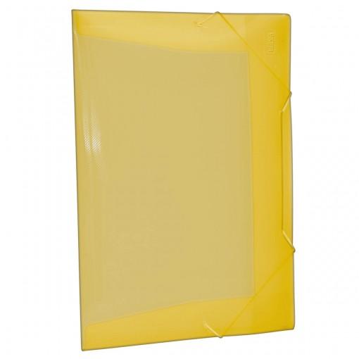 Pasta Aba Elástico Polipropileno 0,35mm Ofício Amarela