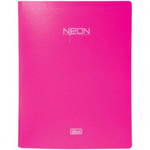 Pasta Catálogo Polipropileno 0,65mm 20 Envelopes A4 Neon Rosa