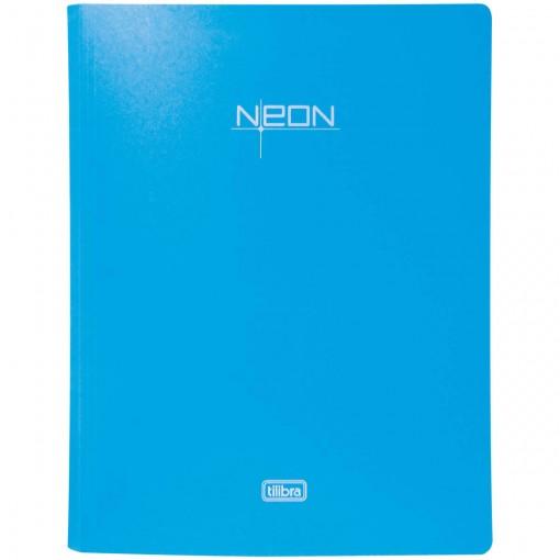 Pasta Catálogo Polipropileno 0,65mm 40 Envelopes A4 Neon Azul