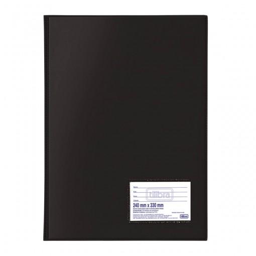 Pasta Catálogo PVC 0,15mm Ofício 10 Envelopes Preta