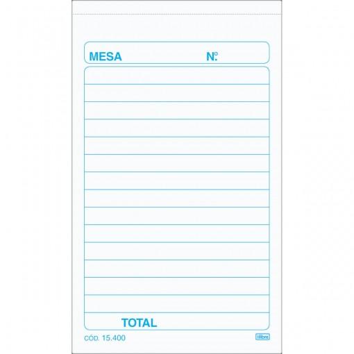 Pedido De Mesa 50x2 Vias - 100 Folhas (Pacote com 20 unidades)