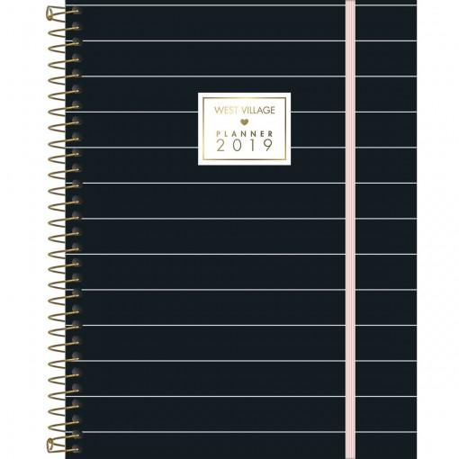 Planner Espiral Grande West Village 2019 - Sortido