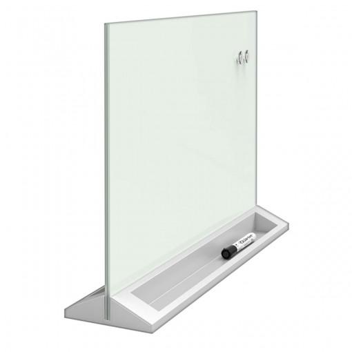 Quadro Branco Magnético Vidro Divisória para Mesa 58x40cm