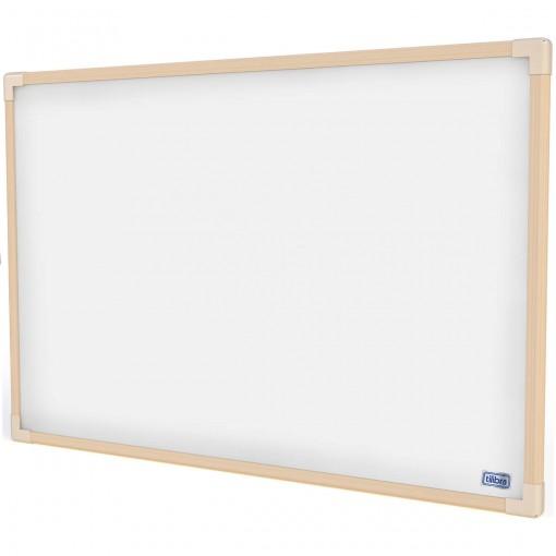 Quadro Branco UV Moldura Madeira 90x60cm