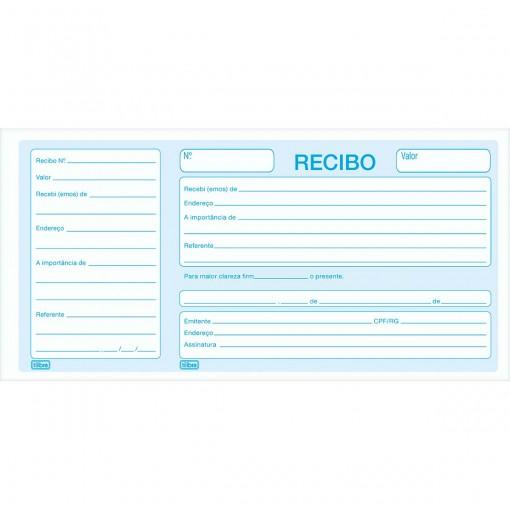 Recibo Comercial Com Canhoto - 50 Folhas