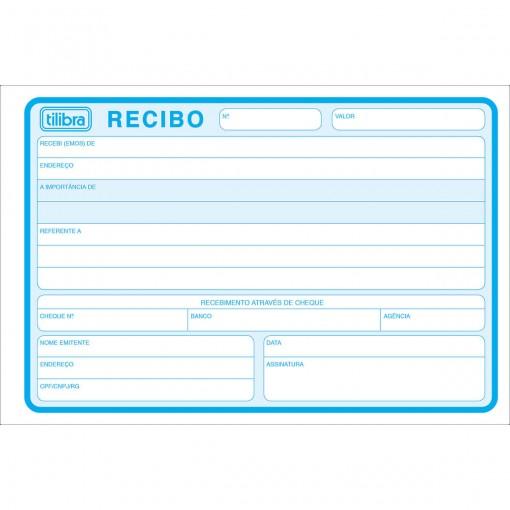Recibo Comercial Sem Canhoto Grande - 50 Folhas (Pacote com 10 unidades)