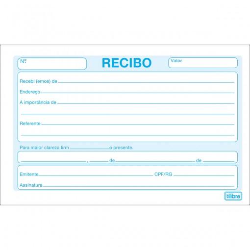 Recibo Comercial Sem Canhoto Pequeno - 50 Folhas (Pacote com 20 unidades)