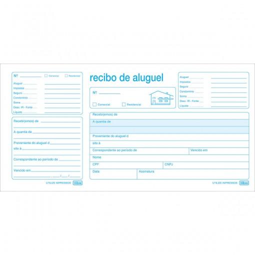Recibo de Aluguel Com Canhoto - 50 Folhas (Pacote com 20 unidades)