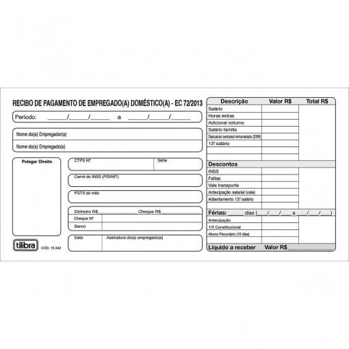 Recibo de Pagamento de Empregado(a) Doméstico(a) 13x2 Vias -  26 Folhas (Pacote com 20 unidades)