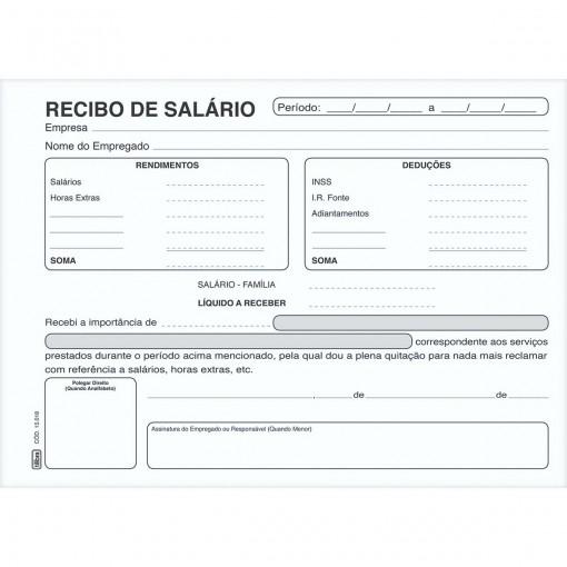 Recibo De Salário - 100 Folhas