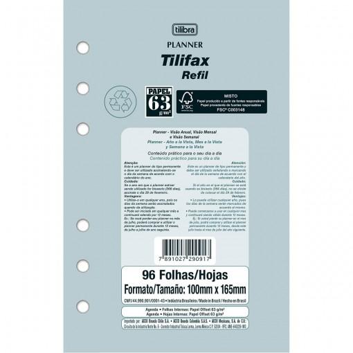Refil Free Planner Tilifax 96 Folhas Permanente