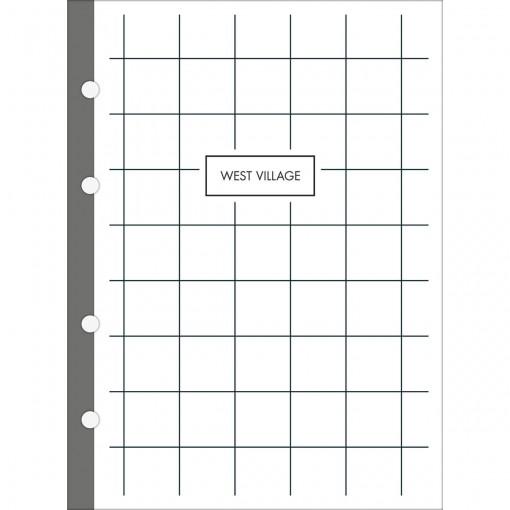 Refil Tiliflex para Caderno Argolado Cartonado Colegial West Village 80 Folhas
