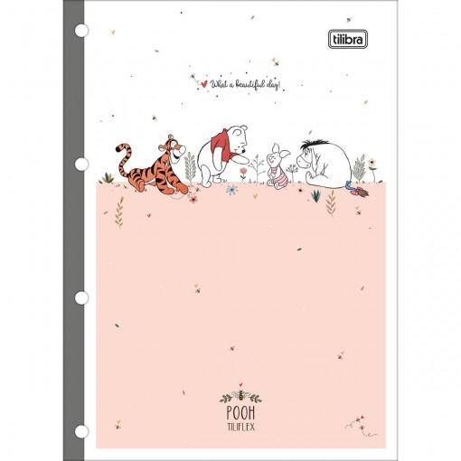 Refil Tiliflex para Caderno Argolado Universitário Pooh 80 Folhas