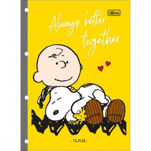 Refil Tiliflex para Caderno Argolado Universitário Snoopy 80 Folhas