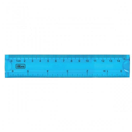 Régua Flexível 15cm Azul