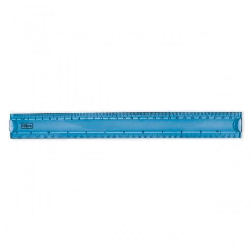Régua Flexível 30cm Académie Azul