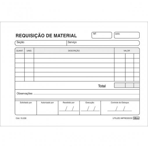 Requisição de Material Simplificado - 50 Folhas (Pacote com 20 unidades)