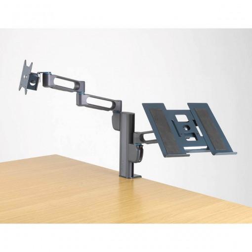 Suporte de Mesa para 2 Monitores - Sistema SmartFit Kensington Duplo braço