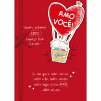 Imagem - Cartão Handmade Beauty Amor Estampa Balões Casal- Grafon's