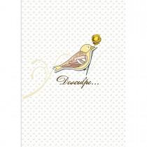 Imagem - Cartão Handmade Beauty Desculpas Estampa Pássaro - Grafon's
